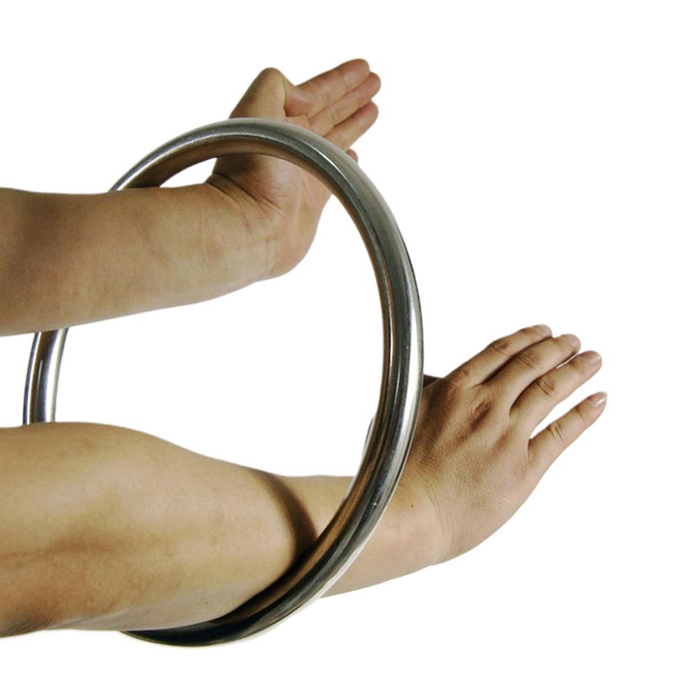Anillo de acero inoxidable Wing Chun, 1 Uds., armas kungfú chino, anillos de ala Chun Kung Fu, mano pegajosa, anillo de acero para entrenamiento de fuerza