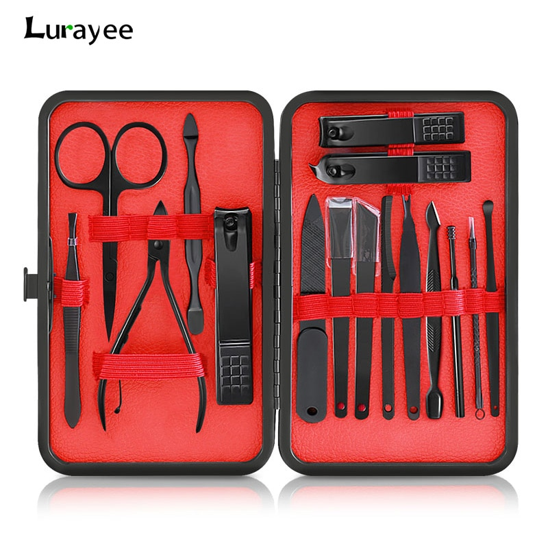 Lurayee 10/18Pcs Nail Clippers&Trimmers Set Stainless Steel Nail Cutter Pedicure Kit Nail Scissors Cutter Manicure Tool Set недорого
