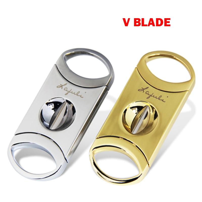 Laifuli cortador de cigarros, hoja en V afilada de acero inoxidable y suave accesorio de cigarro de alta calidad cortapuros en venta