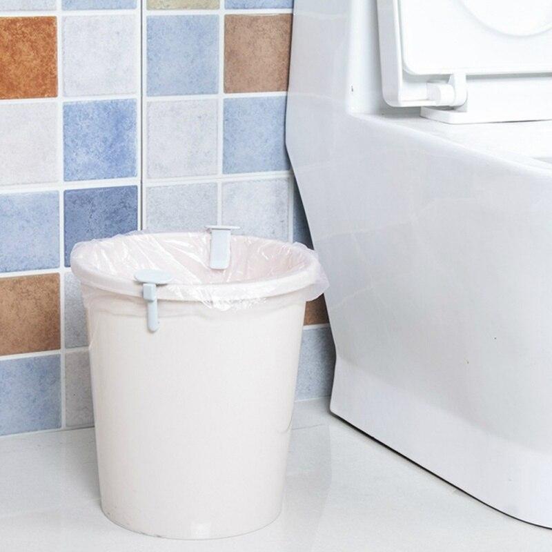 2 uds. Cesta de basura Clip portátil bolsa de basura fija antideslizante Clip Hogar Universal bolsa de basura Clip lateral fijo para el hogar nuevo