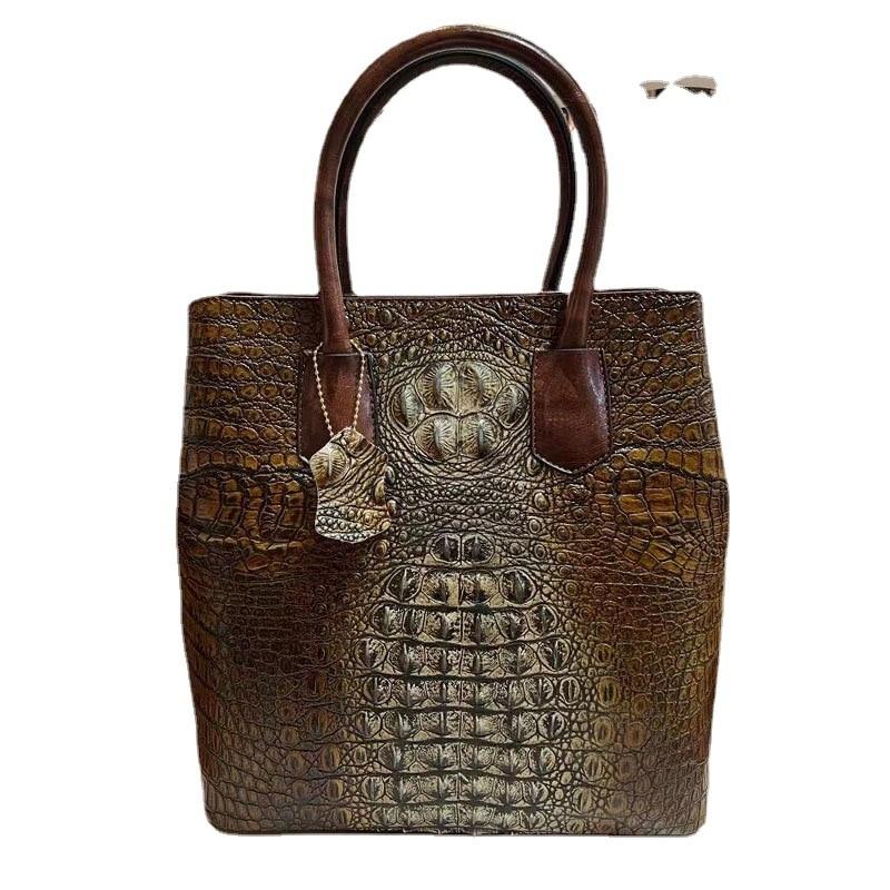 2021 موضة جديدة الترفيه حقيبة كتف نسائية سعة كبيرة حقيبة ساعي جلد التمساح حقيبة يد فاخرة مصمم المحفظة