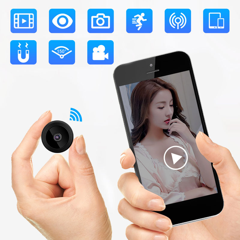 1080P IP Mini Camera Wireless Recorder Wifi Security Remote Control Surveillance Night Mobile Detect