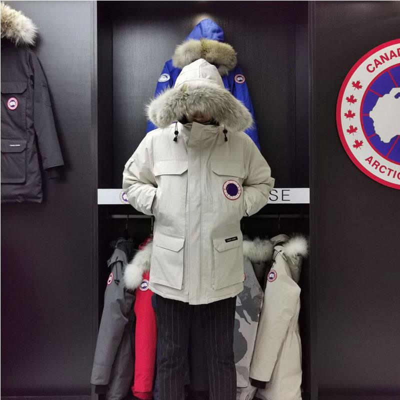 ¡Novedad de 2020! Chaqueta de plumas de ganso para hombre, abrigo cálido de invierno, chaqueta acolchada de algodón impermeable blanca, Sudadera con capucha, ropa para hombre