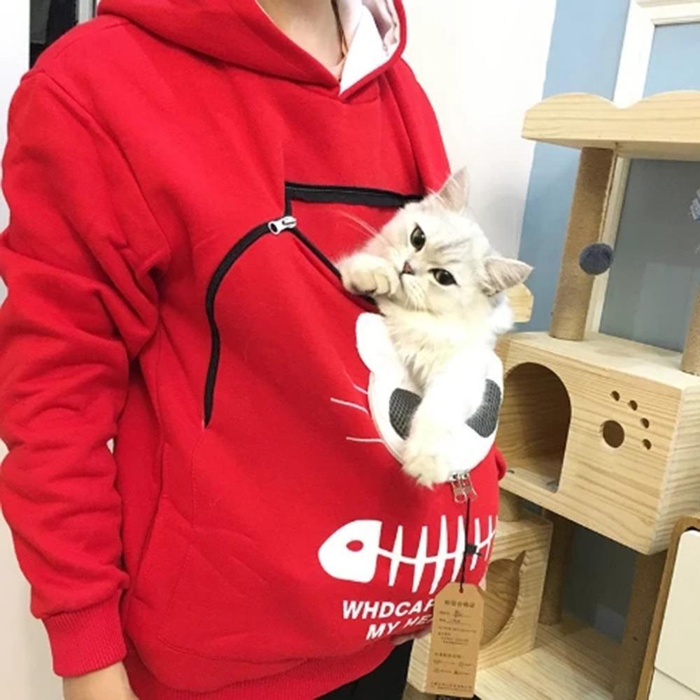 2020 Cat Lovers Hoodie Kangaroo Dog Pet Paw Dropshipping Pullovers Cuddle Pouch Sweatshirt Pocket Animal Ear Hooded