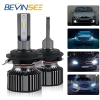bevinsee h7 led bulbs 60w 10000lm csp headlamp for cars led lamp h7 12v for audi a3 a4l a6l