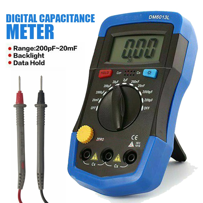 Testador de Capacitância Medidor de Circuito Lcd para Teste de Erro Medidor Digital Capacitância Capacitor Tester Display Análise Numérica mf uf