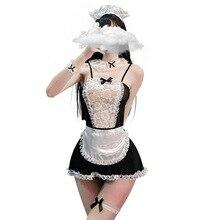 Porno Lingerie femmes chaudes bébé poupée Sexi érotique Lingerie robe Cosplay femme de ménage uniforme Costumes sous-vêtements vêtements sexuels jeu de rôle