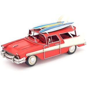 Vintage decorative hand-made metal artifacts model of a classic car Creative decorations