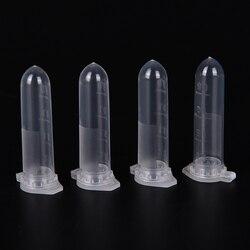 100 pces 2ml micro tubo de centrifugação tubo tubo de tubos de ensaio plástico transparente recipiente snap cap