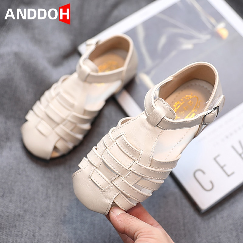Size 21-30 Children Soft Bottom Hollow Sandals Baby Breathable Anti-slippery Toddler Shoes Girls Lightweight Casual Sandals