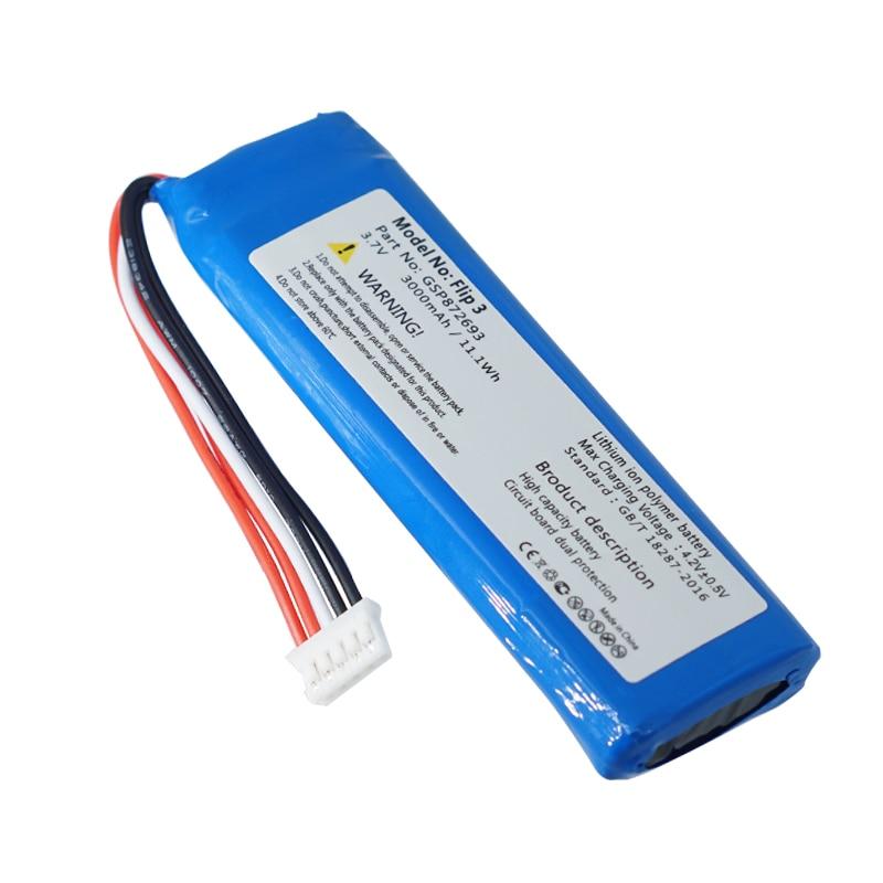GSP872693 3,7 v 3000mah аккумулятор для JBL Flip 3 Flip 3 GSP872693 P763098 03