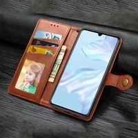 mokoemi round buckle wallet leather case for huawei p40 p30 pro p40 p30 p20 lite e 2019 phone case cover