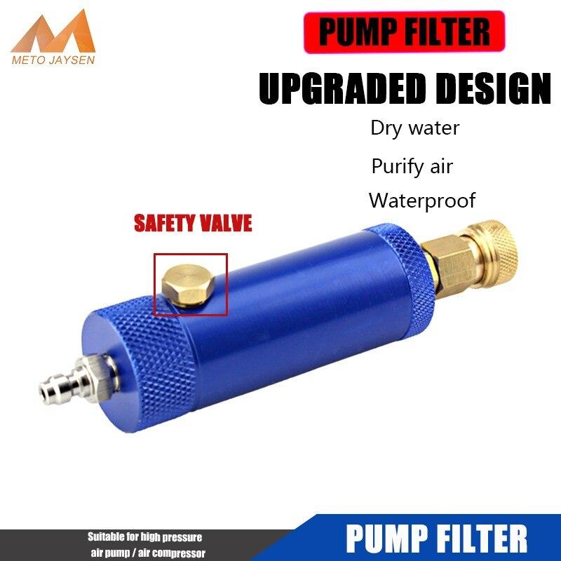 PCP Пейнтбольный ручной насос фильтр с предохранительным клапаном M10x1