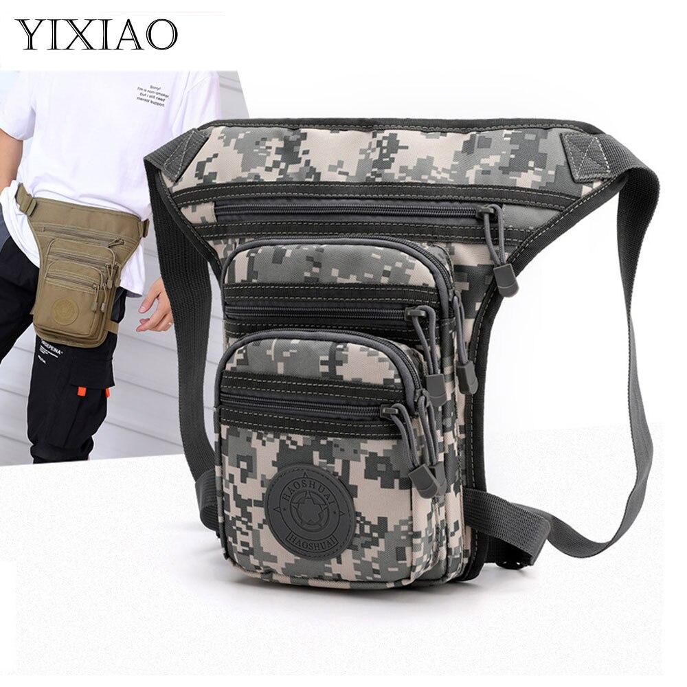YIXIAO Multifunction Tactical Men's Shoulder Bags Drop Leg Bag Male Thigh Fanny Pack Waist Outdoor T