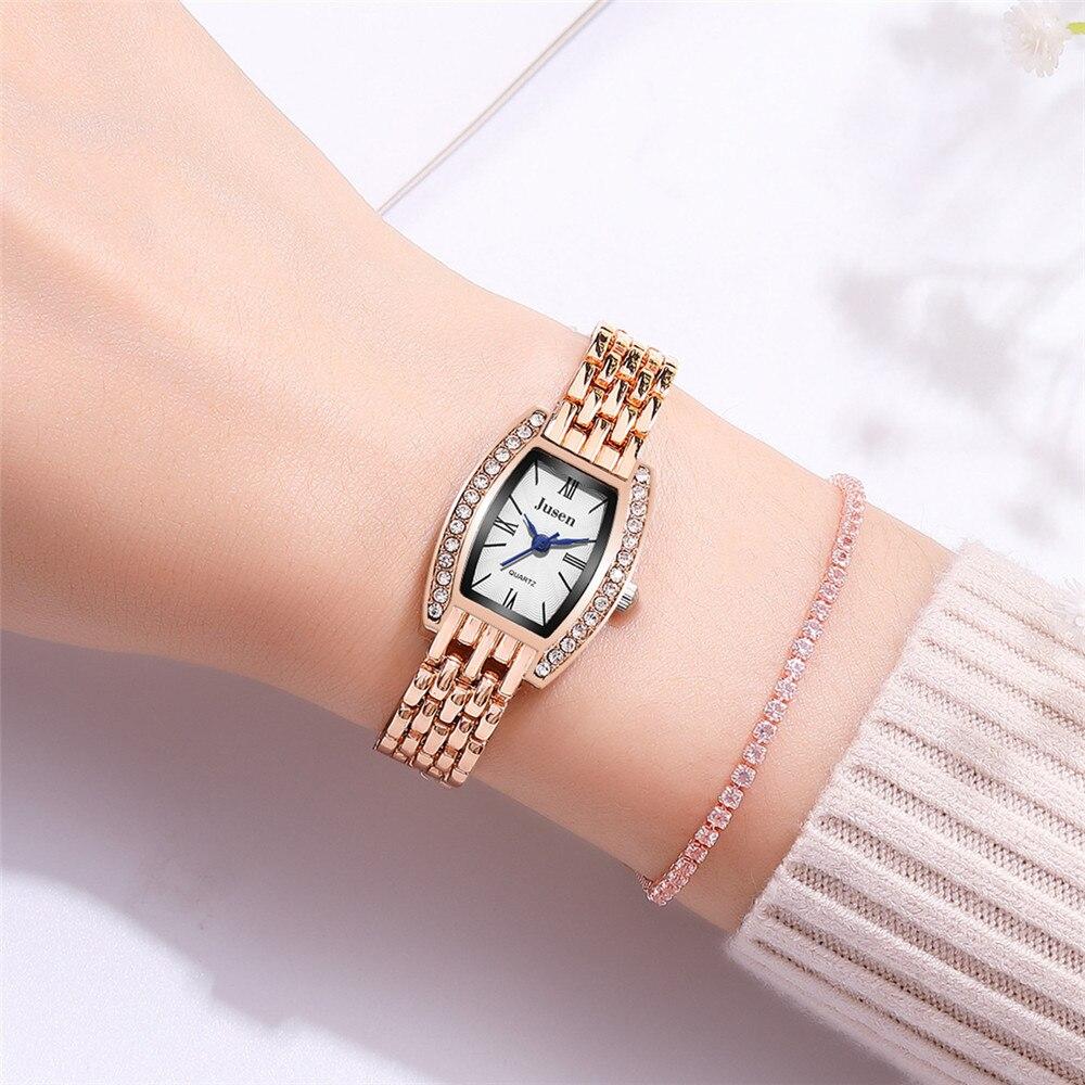 Butterfly Rose Gold Plated Women's Elegant Luxury Rhinestone Bracelet Quartz Watch Fashion Ladies Fa