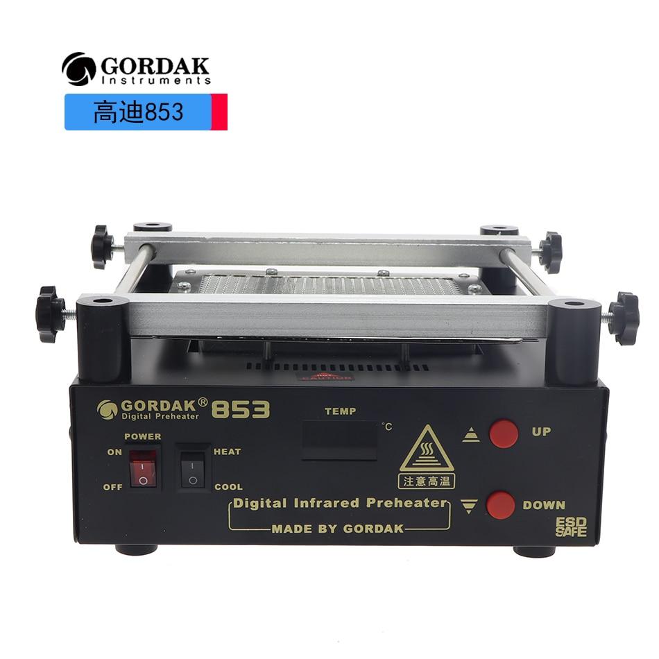 Neue upgrade GORDAK 853 high power infrarot vorwärmen station PCB entlöten BGA ESD rework station