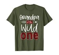 mens grandpa of the wild one shirt plaid lumberjack 1st birthday