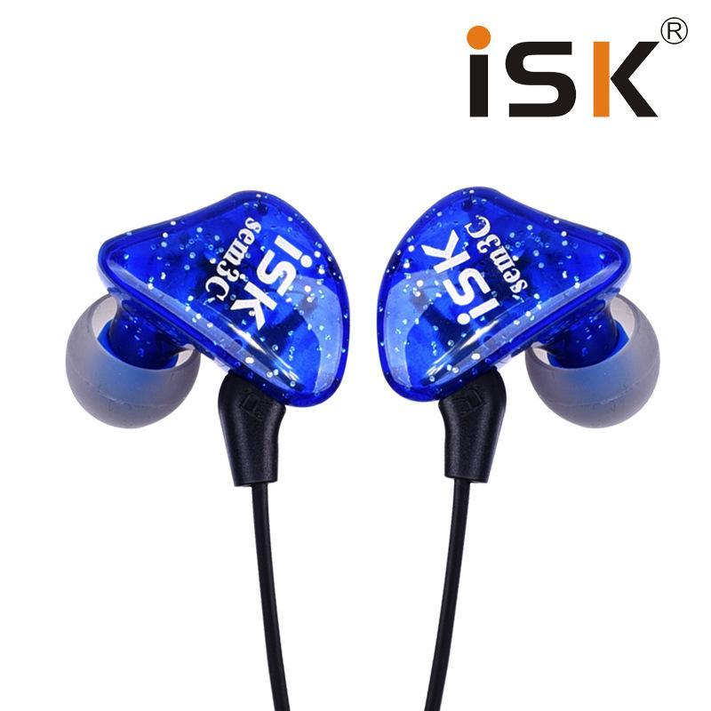 ISK SEM3C Dynamic graves profundos profesional DJ Monitor In Ear auriculares aislamiento de ruido HiFi música auriculares de estudio S1
