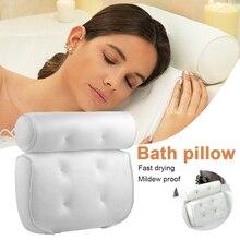 Almohada de bañera de SPA con ventosas, soporte para cuello y espalda, gruesa, accesorios de baño para el hogar