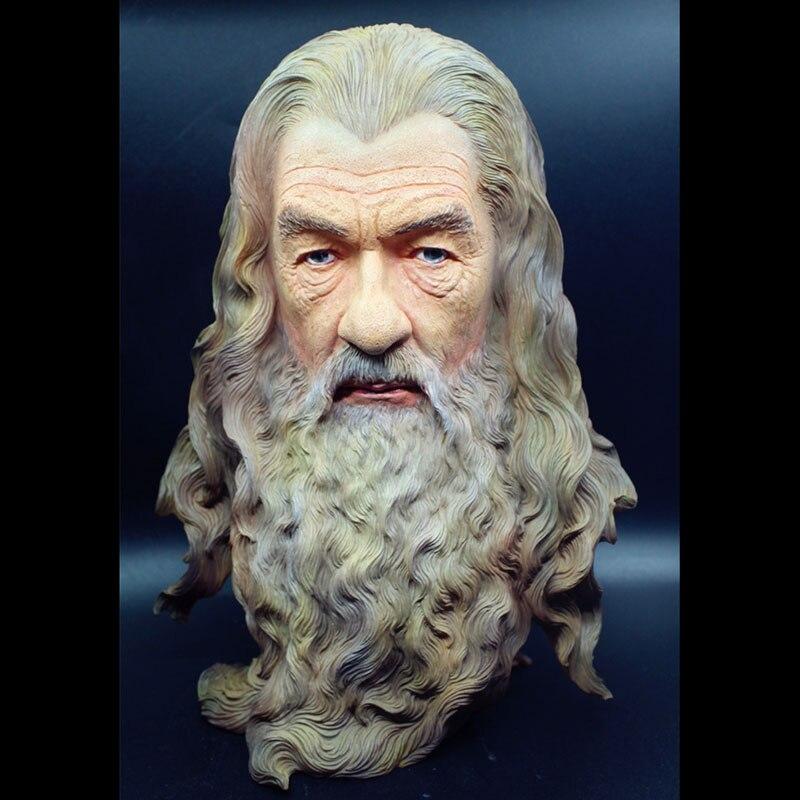 El Hobbit Gandalf Mage busto estatua cabeza resina GK tamaño de la estatua 30 cm