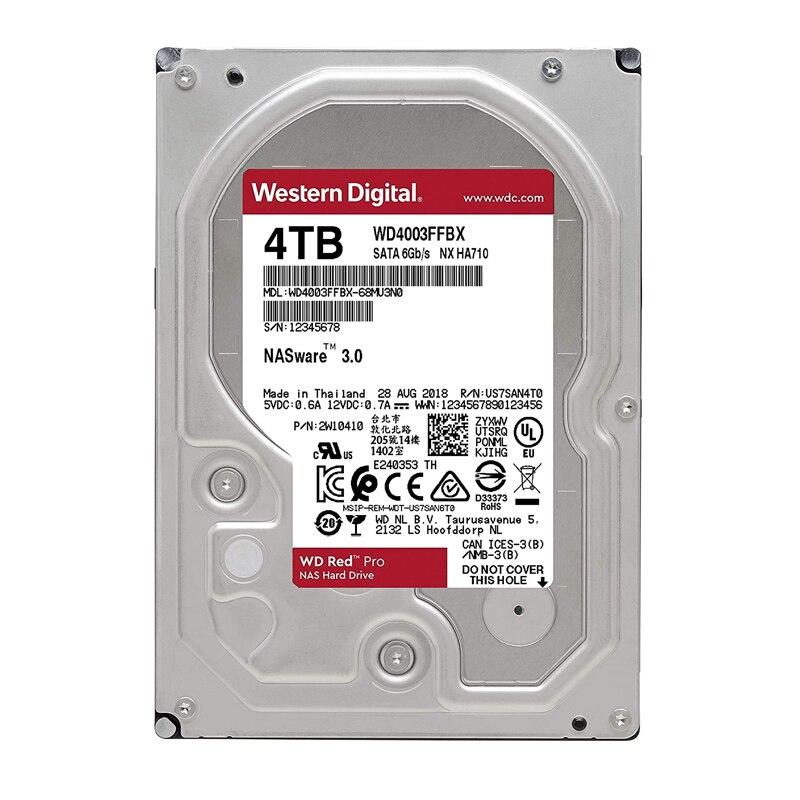 WD الأحمر برو 4 تيرا بايت تخزين شبكة القرص 3.5 ''ناس الصلب 7200 دورة في الدقيقة 256 متر مخبأ SATA3 HDD 6 جيجابايت/ثانية WD4003FFBX