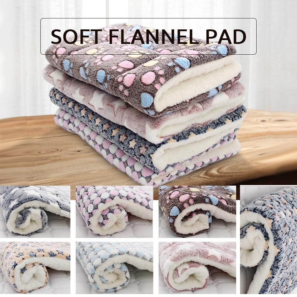 S/M/L/XL/XXL/XXXL almohadilla gruesa de lana suave para mascotas manta para la cama para cachorro perro gato sofá cojín hogar alfombra lavable mantener caliente
