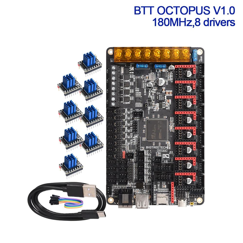 Pre-sale BIGTREETECH BTT OCTOPUS V1.0 32bit Control Board 8 Axis Drivers TMC2209 TMC2208 UART Controller 3D Printer Parts Voron