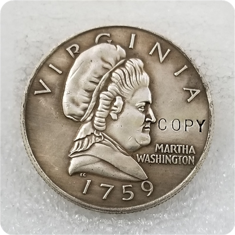 "USA (1759) 50C Marta Washington ""medio dólar"" copia de monedas"