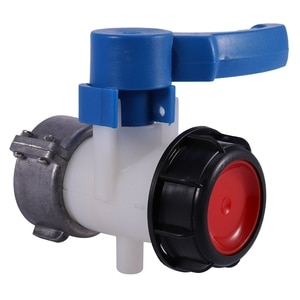 IBC Tank Container 62mm Ball Valve DN40 with Free Turning Aluminum Nut -20 ° C - 70 ° C IBC Tank Ball Valve