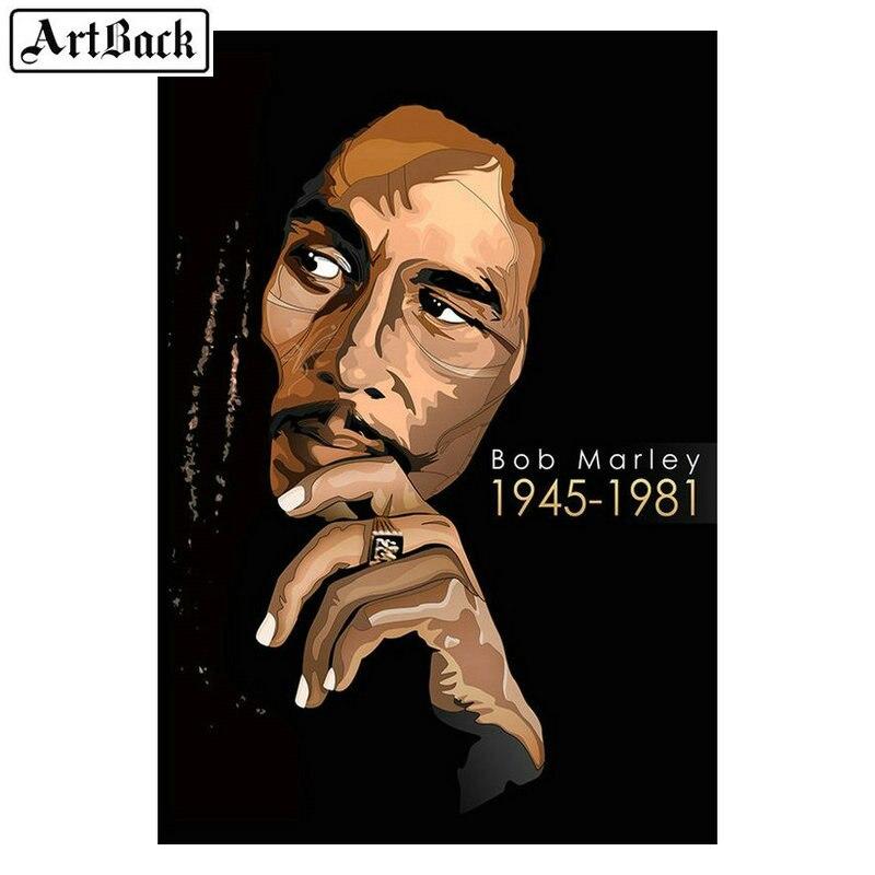 5d diy diamond painting Bob Marley portrait Cross stitch full square / round diamond art mosaic crafts