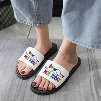 shoes for woman open toe indoor home woman shoes bathroom slippers not today shoes women cute fashion cartoon beach flip flops