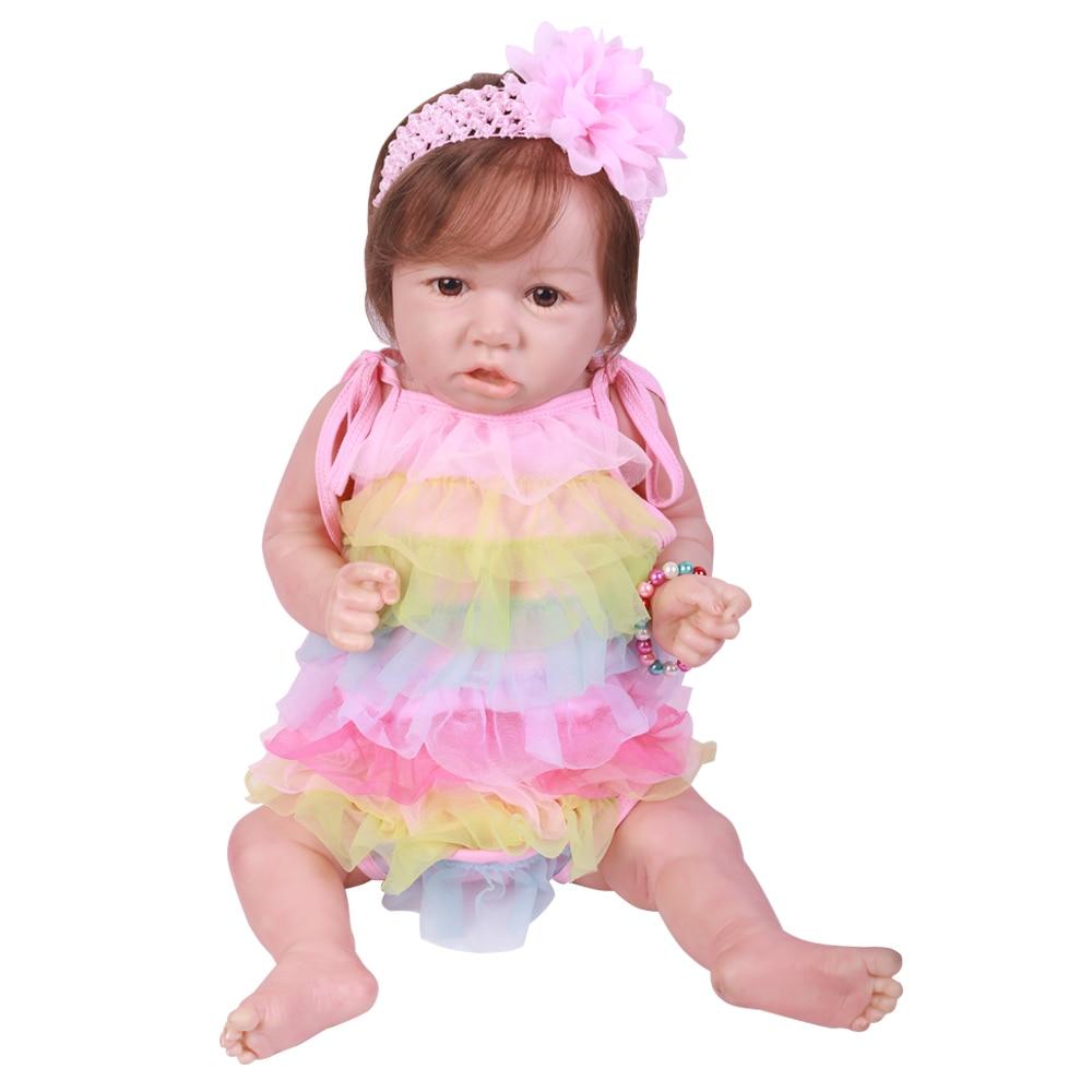 23 58CM Lovely  Bebe Reborn Baby Dolls Full Vinyl Body So Truly Like Alive Doll In Brazil Toddler bebe Toy Birthday Gifts