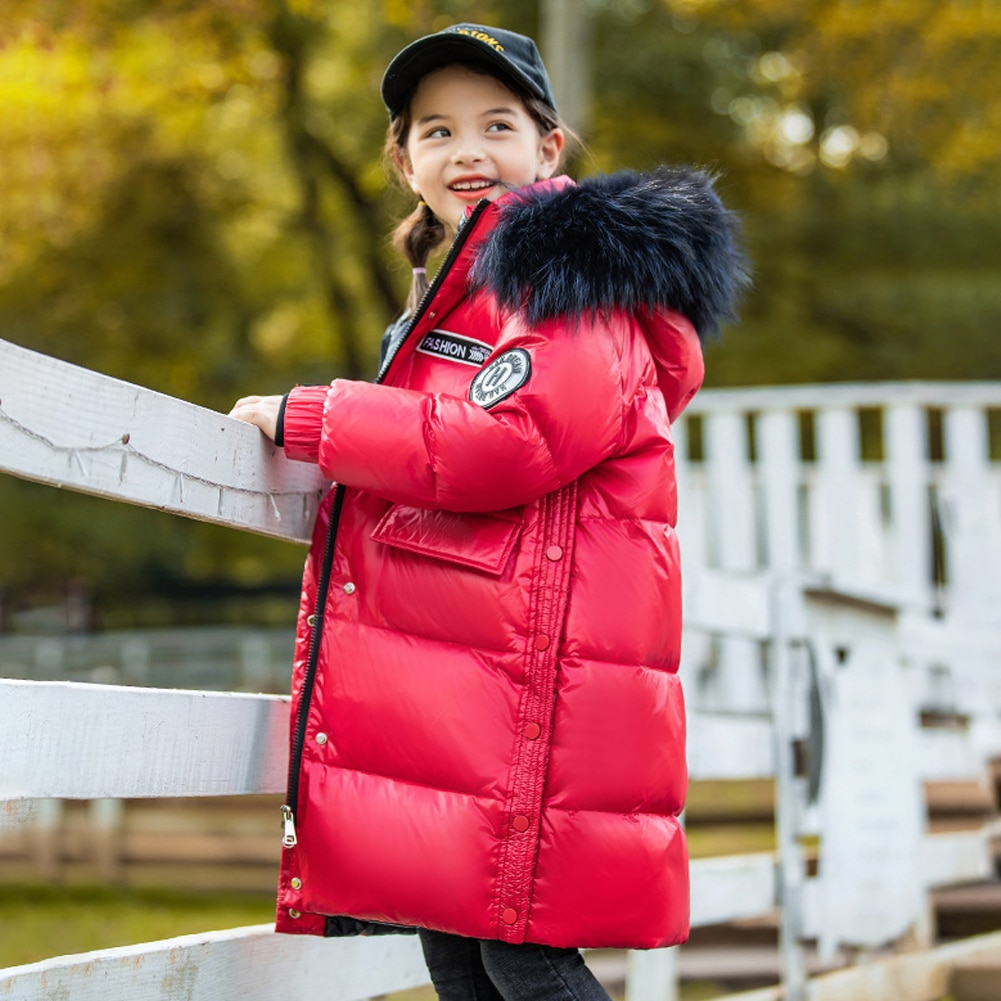 Solid Hooded Coats for Kids White Duck Down Clothes Girls Warm Outerwear Boys Padded Puffer Jackets Winter Casual Long Overcoat enlarge