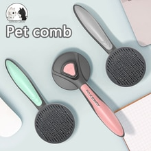 Pet Comb for Dogs Grooming Toll Automatic Hair Brush Remover Pet cat Hair shedding Comb Dog Beauty c