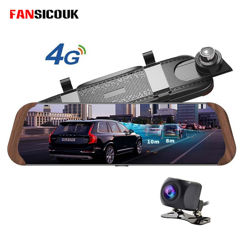 "10 ""pantalla 4G Android coche Dvr Dash Cámara ADAS GPS Bluetooth WIFI FHD 1080P Monitor remoto espejo retrovisor de M786"