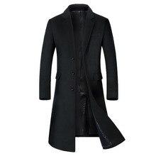 Casaco longo abaixo do joelho, sobretudo masculino, casaco masculino blusão, casacos masculinos, casaco de lã masculino, casaco comprido