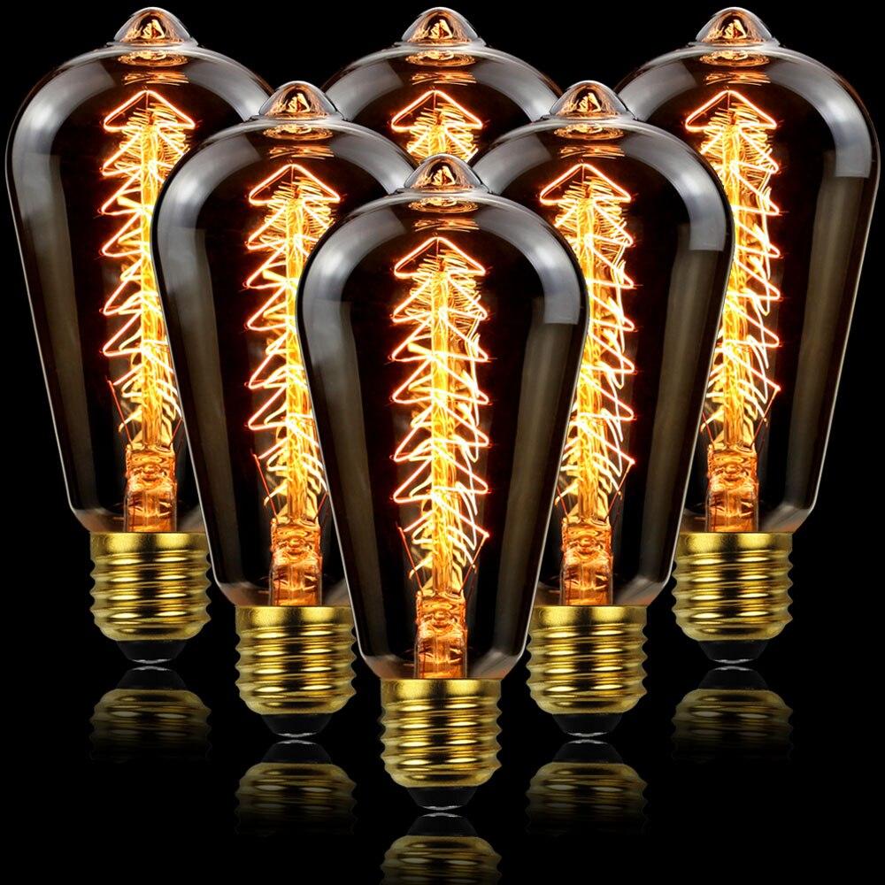 Лампа накаливания Эдисона E27 в стиле ретро, 40 Вт, 220 В