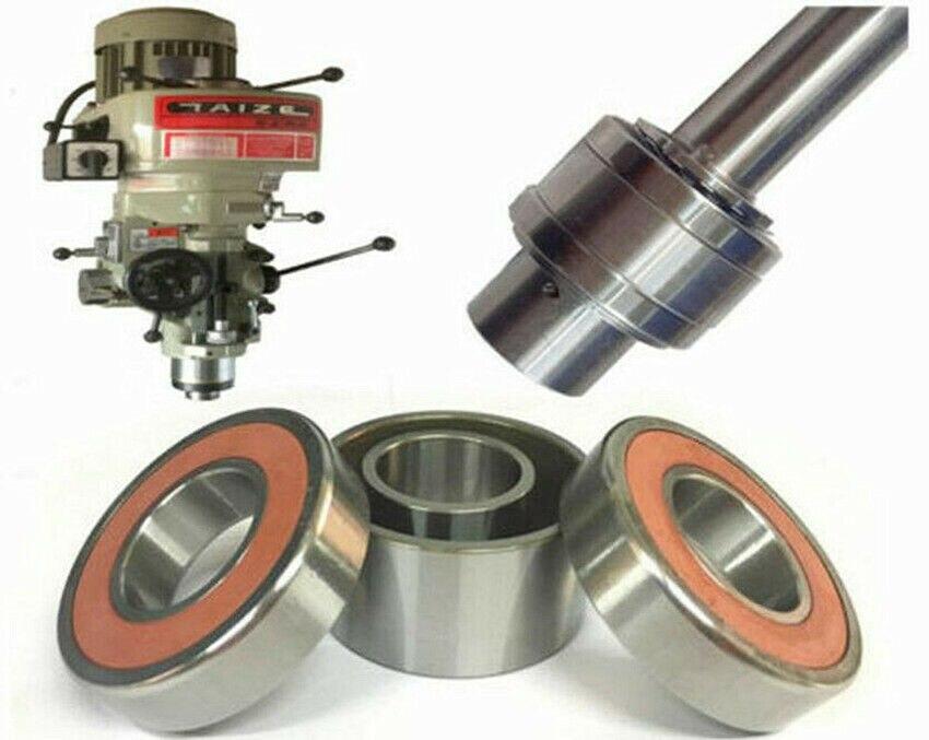 1 Juego de piezas de la máquina fresadora, husillo R8, conjunto de rodamientos para BRIDGEPORT, máquina de torno, fresadora CNC