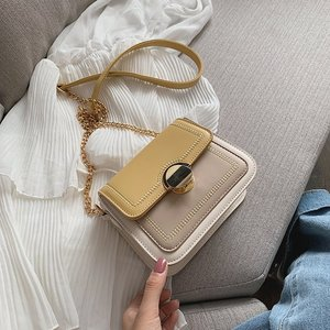 Contrast Color Leather Crossbody Bags for Women 2020 Shoulder Simple Bag Female Small Handbags and Purses Bolsos Para Mujer