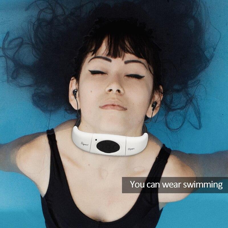 LEORY-auriculares IPX8 con reproductor MP3, 4 colores, resistentes al agua, para natación, surf en SPA, deportes de buceo, reproductor de MP3, Radio FM con memoria incorporada de 4GB
