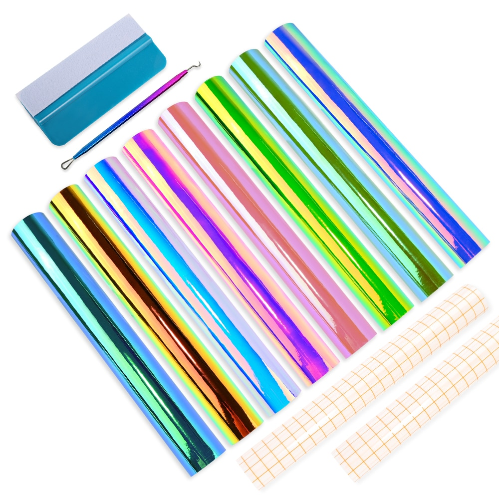 FOSHIO أدوات التصميم عدة لتقوم بها بنفسك لاصق كرافت لامع حروف فيلم ملصق فينيل دائم تصميم كوب زجاجي ملابس السيارات ملصق مائي