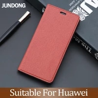 flip case for huawei p10 p20 p30 lite mate 9 10 20 y6 y9 p smart 2019 pu fabric texture for honor 8x 7a 9 9x 10 lite phone case