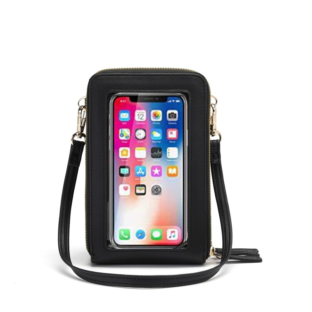 Crossbody Cellphone Purse Women Touch Screen Bag RFID Blocking Wallet Handbag Shoulder Strap