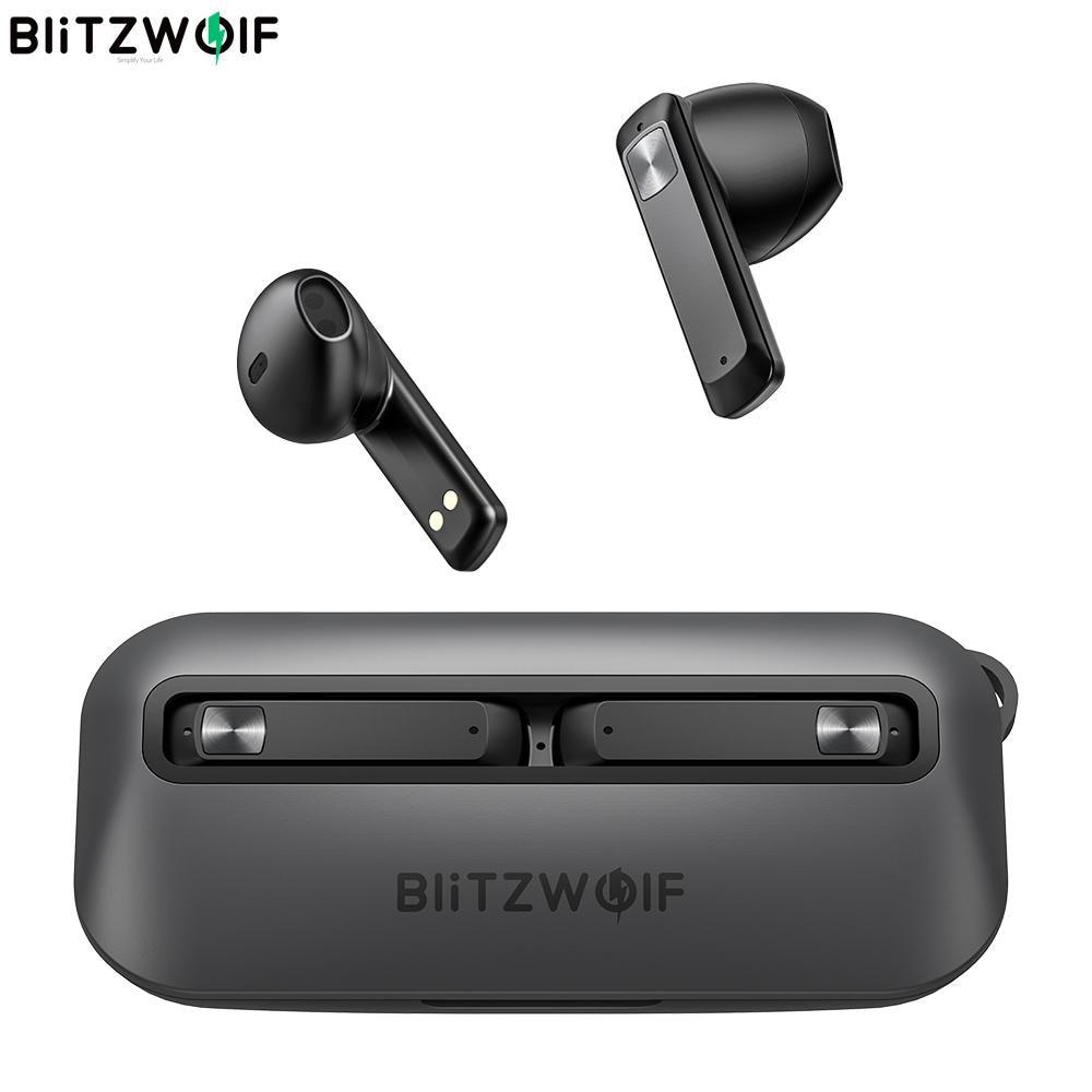 BlitzWolf BW-FPE1 TWS سماعة 1.7 سنتيمتر رقيقة جدا سماعات المحمولة 13 مللي متر كبير سائق HiFi ستيريو ENC المزدوج هيئة التصنيع العسكري نصف في الأذن سماعة