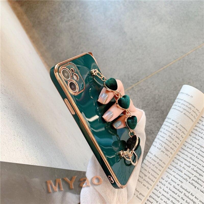 caso de telefone pulseira de luxo para iphone 12 mini 11 pro max xr xs se 7 8 plus