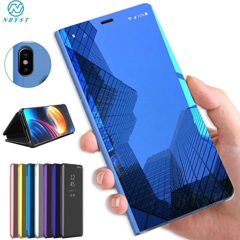 Espejo Flip casos para Huawei P40 Pro P20 P30 Pro P10 P9 P Smart P8 Lite 2017 P40 Lite E cubierta protectora para Honor 20S Nova 5T