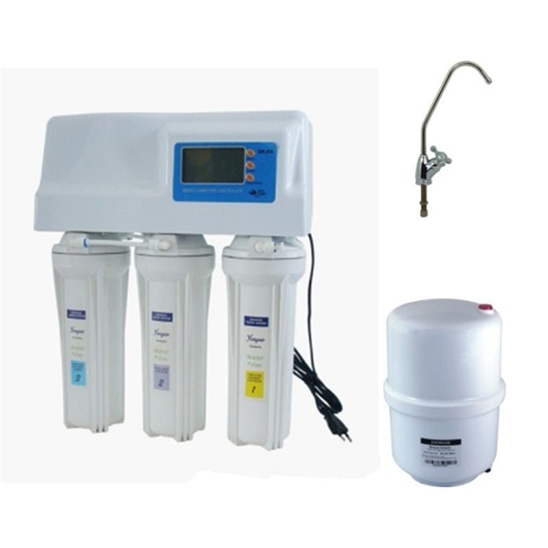 household 50GPD ROsmosis water Purifier with digital computer and dust helmet