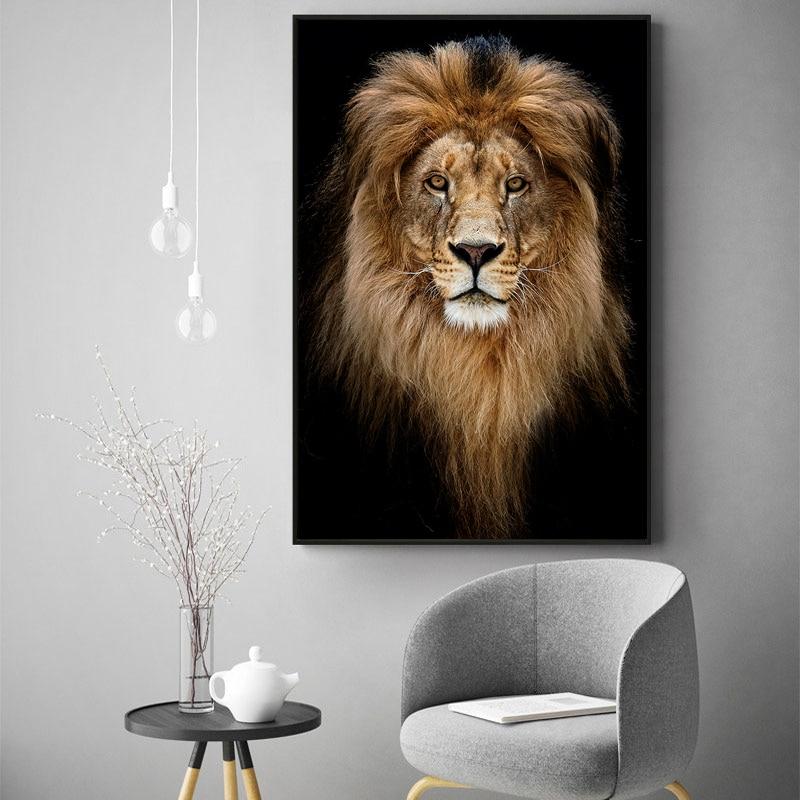 Póster impreso de arte de pared de vaca, lienzo artístico, carteles de animales e impresiones, arte nórdico, imagen de decoración de pared de alta definición para sala de estar