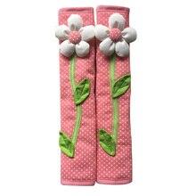 2 pièces pastorale fleur à pois porte/réfrigérateur poignée couverture réfrigérateur porte poignée gants décor à la maison accessoires de cuisine rose