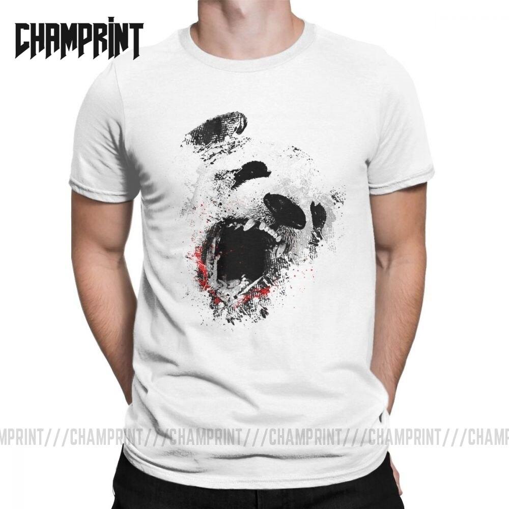 Camiseta de ocio Killer Panda para hombre, camisetas de algodón de cuello redondo, camisetas chinas de manga corta con animales bonitos, camiseta para adultos, Tops